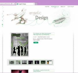 Web Design - Angelic Design Portfolio Site Portfolio Page