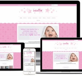 Ecommerce website for Cape Town Company selling baby products