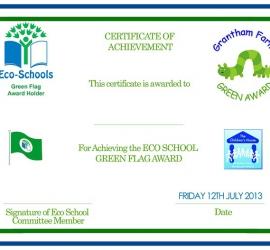 Certificate Eco-Awards