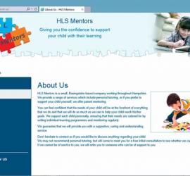 Web Design - HLS Mentors Website - About Us Page