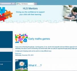 Web Design - HLS Mentors Website - Blog Page