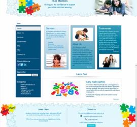 Web Design - HLS Mentors Website - Homepage