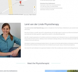 Section two of homepage designed for company in Cape Town, South Africa