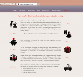 Wedding Website Details-page