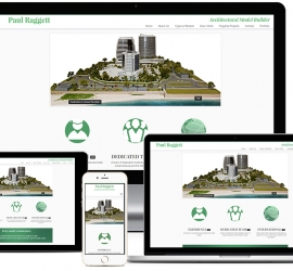 Web Design Showcase for Model Builder in Somerset West South Africa