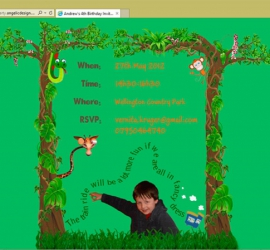 Website as personalised birthday invitation