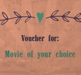 Valentines Voucher for movie of your choice