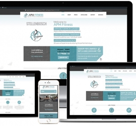 Web Design Showcase of responsive website for a Gym in Stellenbosch, South-Africa with booking system