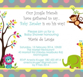Ecard for Baby Shower - Graphic Design