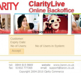 Application Skinning ClarityLive