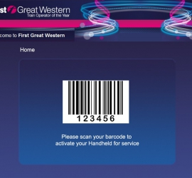 Web Application for Employees - Bar code Scanner
