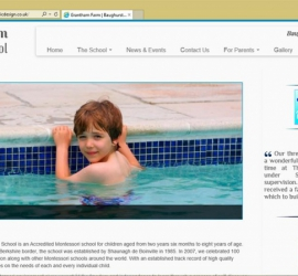 Web Design School Website Homepage