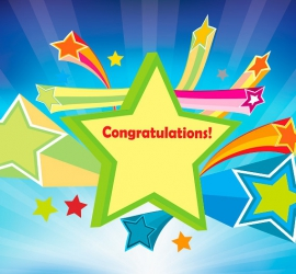 Front of Congratulations Greeting Card