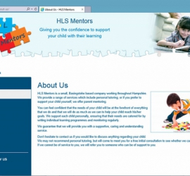 Web Design - HLS Mentors Website - About Us Page
