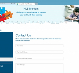 Web Design - HLS Mentors Website - Contact Us Page