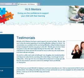 Web Design - HLS Mentors Website - Testimonials Page