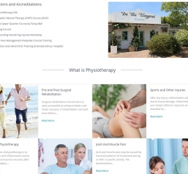 Section 5 of responsive one page web design