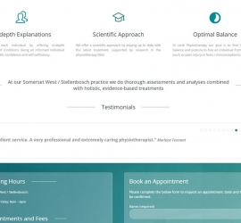 Section 3 of One page web design for physiotherapist in Somerset West, South Africa