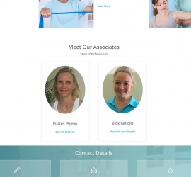 Section 6 of website designed for company in Helderberg, South Africa