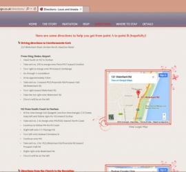 Wedding Website Directions