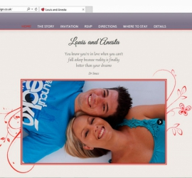 Wedding Website Homepage