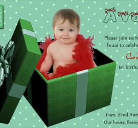 Personalised birthday invitation