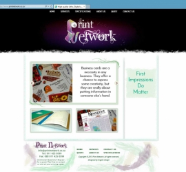 Web Design - Full Homepage - Print Network Website