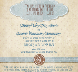 Graphic Design for Wedding Invitation that was emailed as an eCard