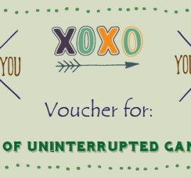 Valentines Voucher for Game Time