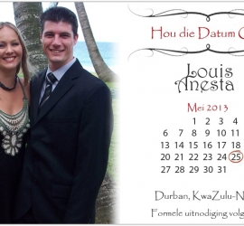 Graphic Design for Wedding - eCard Save the Date