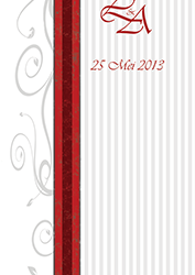 Graphic Design for Wedding - Order of Service Front Page